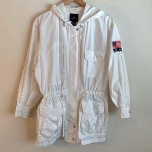 Limited White Hooded Anorak Jacket Size XS
